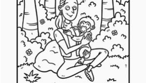 Jane Goodall Coloring Page Jane Goodall Coloring Page Projects to Try Pinterest