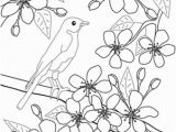 Japanese Cherry Blossom Coloring Pages Color the Flowers Cherry Blossoms Applique Pinterest
