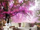 Japanese Cherry Blossom Wall Mural 3d Room Wallpaper Cloth Custom Dream Cherry Tree Deer Tv Background Wall Home Improvement 3d Wall Murals Wallpaper for Walls 3 D Canada 2019