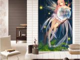 Japanese Murals for Walls Galaxy Anime Girl Wallpaper 3d Japanese Anime Wall Mural Hand Painted Art Cherry Blossom Bedroom Porch sofa Tv Background Hotel Wall Decor Free Hd