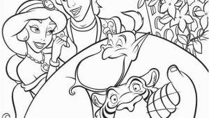 Jasmine Aladdin Coloring Pages Jasmine Aladdin Génie Et Rajah