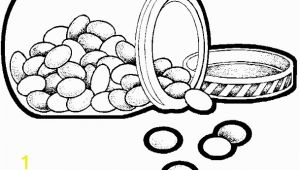 Jelly Bean Coloring Page Cocoa Bean Coloring Sheet