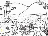 Jesus and the Fisherman Coloring Page Disciples Catching Fish Coloring Page