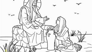 Jesus and the Samaritan Woman Coloring Page 15 Fresh Woman at the Well Coloring Page