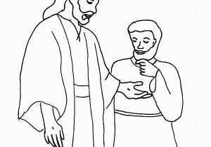 Jesus and Thomas Coloring Pages Jesus and His Disciples Believing Thomas Coloring Page