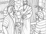 Jesus and Thomas Coloring Pages Jesus Appears to Thomas Coloring Page