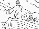 Jesus Calms the Storm Coloring Page Free Printable Jesus Coloring Pages for Kids