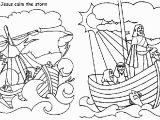 Jesus Calms the Storm Coloring Page Jesus Calms Storm Free Coloring Page Coloring Home