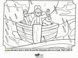 Jesus Calms the Storm Coloring Page Jesus Calms the Storm Bible Coloring Pages