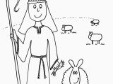 Jesus Coloring Pages Printable Free Christmas Shepherd Coloring Page