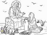 Jesus Coloring Pages Printable Free Jesus and the Samaritan Woman at the Well Bible Coloring