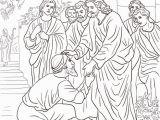 Jesus Coloring Pages Printable Free Jesus Heals the Leper Coloring Page Free Printable Coloring