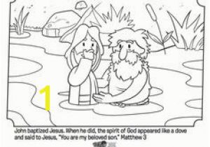 Jesus Getting Baptized Coloring Page 103 Best Bible Coloring Pages Images In 2018