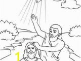 Jesus Getting Baptized Coloring Page 39 Best Bible John & Jesus Baptism Images On Pinterest In 2018