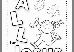 Jesus Goes to Church Coloring Page Fall Coloring Page for Childrens Church 2019