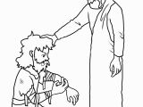 Jesus Heals 10 Lepers Coloring Page Jesus Heals Coloring Pages
