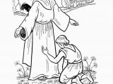 Jesus Heals 10 Lepers Coloring Page Jesus Heals the 10 Lepers