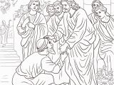 Jesus Heals 10 Lepers Coloring Page Jesus Heals the Leper Coloring Page