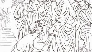 Jesus Heals A Leper Coloring Page Jesus Heals the Leper Coloring Page Free Printable Coloring Pages