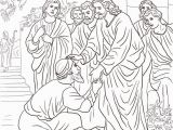 Jesus Heals A Man Born Blind Coloring Page Jesus Heals the Leper Coloring Page Free Printable Coloring