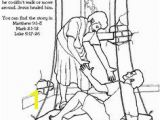 Jesus Heals A Paralyzed Man Coloring Page 35 Best Jesus Heals the Paralytic Man Images