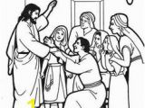 Jesus Heals A Paralyzed Man Coloring Page 540 Best Bible New Testament Colouring Pages Images