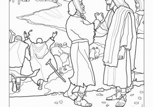 Jesus Heals Coloring Page Coloring Pages
