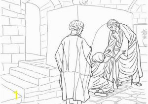 Jesus Heals Coloring Page Jesus Healing Peter S Mother In Law Coloring Page