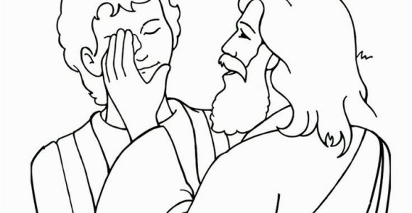 Jesus Heals the Blind Man Coloring Page Free Coloring Pages Printable Jesus Heals the Blind Man