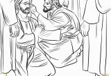 Jesus Heals the Blind Man Coloring Page Jesus Heals A Man Born Blind Coloring Page