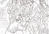 Jesus Heals the Blind Man Coloring Page Jesus Heals the Blind Man Coloring Page at Getdrawings