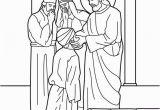 Jesus Heals the Blind Man Coloring Page Jesus Heals the Man Born Blind Bible Coloring Page