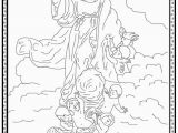 Jesus In Heaven Coloring Page Queenship Of Mary Coloring Pages