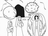 Jesus In Heaven Coloring Page Women Encounter An Angel at Jesus tomb Coloring Page