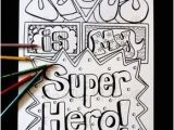Jesus is My Superhero Coloring Pages Jesus Superhero 8 5×11 Instant Pinterest