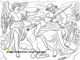 Jesus is Tempted Coloring Page Jesus Temptation Coloring Page Balaam and His Donkey Coloring Page