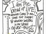 Jesus is the Bread Of Life Coloring Page Bible Verse Coloring Pages Worksheets & Teaching Resources