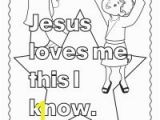 Jesus Loves Me Coloring Page for toddlers Bible Coloring Pages for Kids