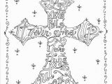 Jesus Loves Me Cross Coloring Page Religious Coloring Pages for Adults
