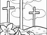 Jesus On the Cross Coloring Pages Printable Easter Cross Coloring Page