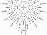 Jesus On the Cross Coloring Pages Printable Monstrance Coloring Page Google Search Mit Bildern