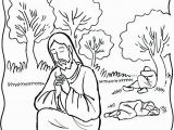 Jesus Praying In the Garden Of Gethsemane Coloring Page Garden Of Gethsemane Coloring Page