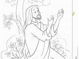 Jesus Praying In the Garden Of Gethsemane Coloring Page the Prayer Jesus In the Gethsemane Garden Coloring