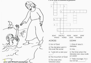 Jesus Sermon On the Mount Coloring Page 20 Peter Walks Water Coloring Pages