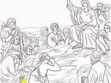 Jesus Sermon On the Mount Coloring Page 540 Best Bible New Testament Colouring Pages Images