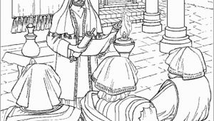 Jesus Teaching In the Synagogue Coloring Page Jesus Reading the Scroll Of isaiah