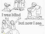Jesus the True Superhero Coloring Pages John 9 25 I Was Blind