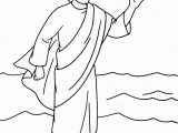 Jesus Walks On the Water Coloring Page Jesus Christ Coloring Pages