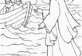 Jesus Walks On Water Coloring Page Jesus Walks On Water Coloring Page
