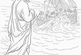 Jesus Walks On Water Coloring Page Jesus Walks On Water Preschool